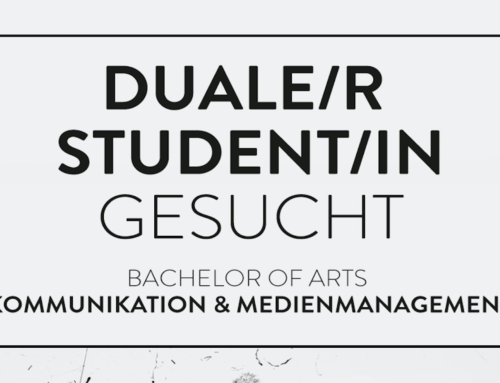 """DUALE/R STUDENT/IN """"KOMMUNIKATION & MEDIENMANAGEMENT"""" AM STANDORT HAMBURG GESUCHT"""
